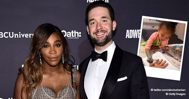 Serena Williams' Husband Alexis Ohanian Posts Adorable Video of Their 2-Year-Old Daughter Olympia Painting His Nails