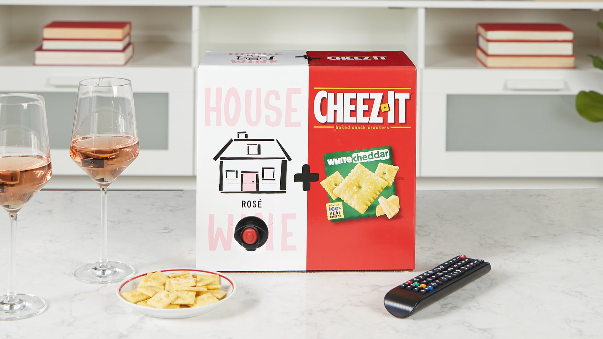 Wine and Cheez-It Boxes Are Back, and This Time They're Pairing White Cheddar With Rosé