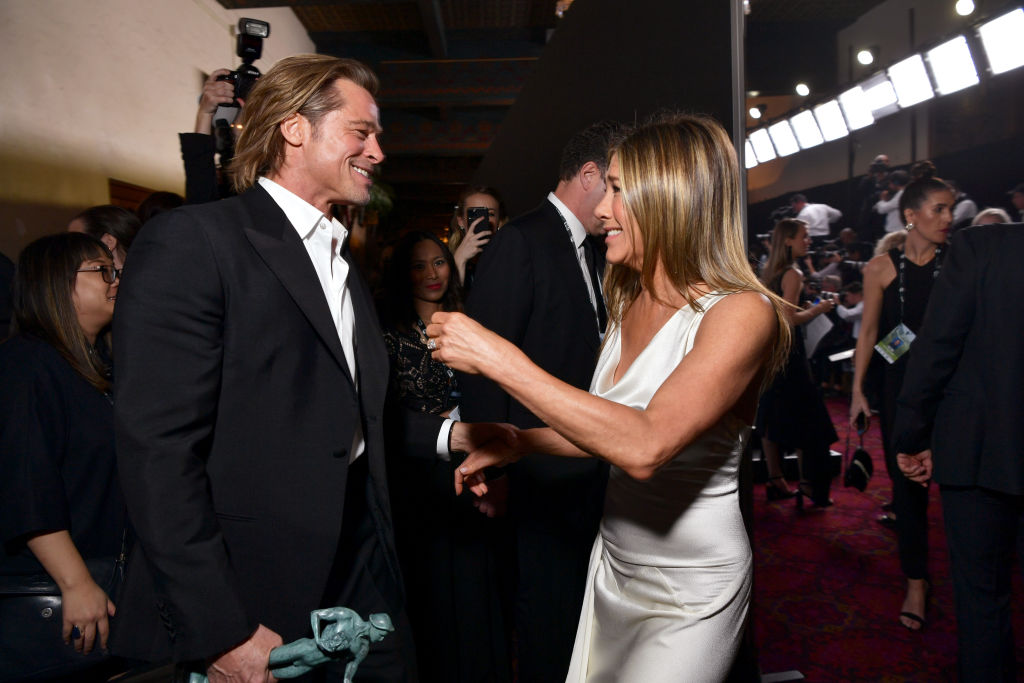 Jennifer Aniston and Brad Pitt Team Up to Recreate This Classic 80s Flick