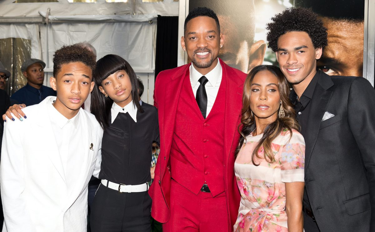 "Jaden Smith, Willow Smith, Will Smith, Jada Pinkett Smith and Trey Smith attend the ""After Earth"" premiere"