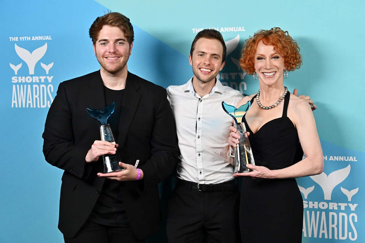 Shane Dawson, Ryland Adams and Kathy Griffin